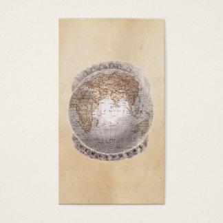 Vintage 1800s World Map Eastern Hemisphere Globe Business Card