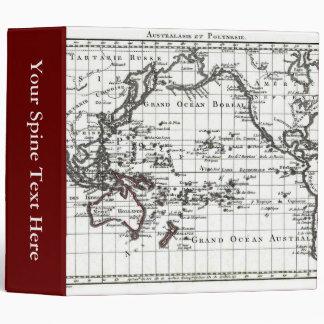 Vintage 1806 Map - Australasie et Polynesie 3 Ring Binder