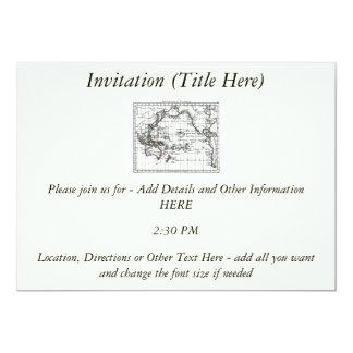 Vintage 1806 Map - Australasie et Polynesie 5x7 Paper Invitation Card