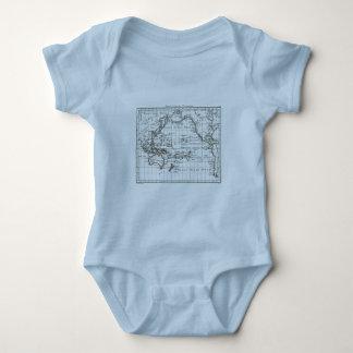 Vintage 1806 Map - Australasie et Polynesie Baby Bodysuit