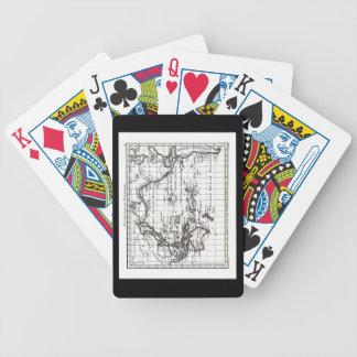 Vintage 1806 Map - Australasie et Polynesie Bicycle Playing Cards