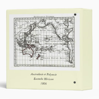 Vintage 1806 Map - Australasie et Polynesie Binder