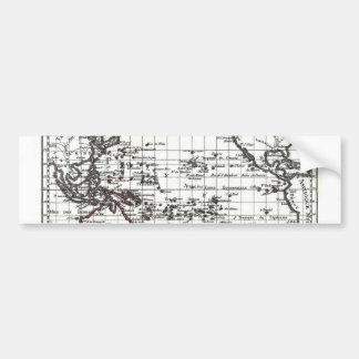 Vintage 1806 Map - Australasie et Polynesie Bumper Sticker
