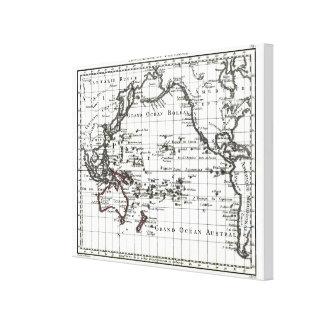 Vintage 1806 Map - Australasie et Polynesie Canvas Print