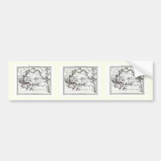 Vintage 1806 Map - Australasie et Polynesie Car Bumper Sticker