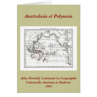 Vintage 1806 Map - Australasie et Polynesie Greeting Card