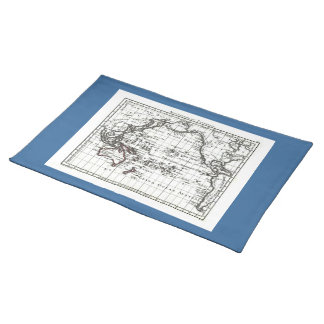 Vintage 1806 Map - Australasie et Polynesie Cloth Placemat