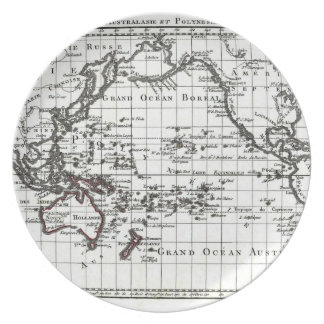 Vintage 1806 Map - Australasie et Polynesie Dinner Plate