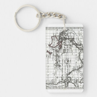 Vintage 1806 Map - Australasie et Polynesie Double-Sided Rectangular Acrylic Keychain