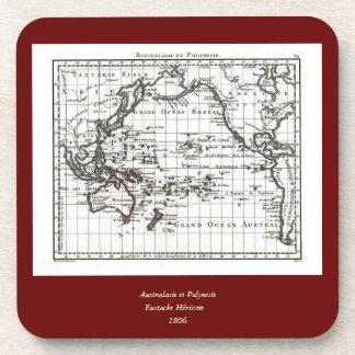 Vintage 1806 Map - Australasie et Polynesie Drink Coaster
