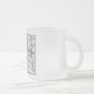 Vintage 1806 Map - Australasie et Polynesie Frosted Glass Coffee Mug