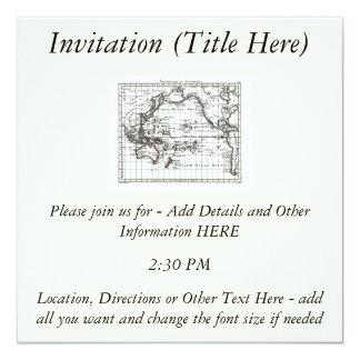 Vintage 1806 Map - Australasie et Polynesie Invitation