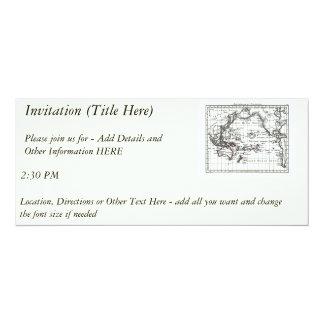 Vintage 1806 Map - Australasie et Polynesie Personalized Announcement