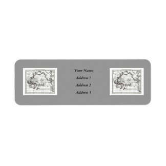 Vintage 1806 Map - Australasie et Polynesie Return Address Label