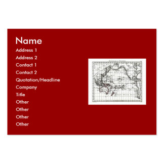 Vintage 1806 Map - Australasie et Polynesie Large Business Cards (Pack Of 100)