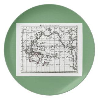 Vintage 1806 Map - Australasie et Polynesie Melamine Plate