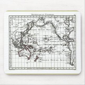 Vintage 1806 Map - Australasie et Polynesie Mouse Pad