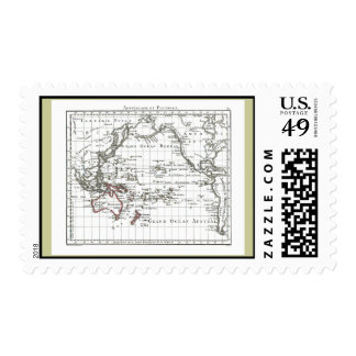 Vintage 1806 Map - Australasie et Polynesie Postage Stamp