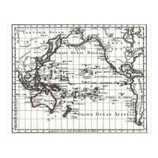 Vintage 1806 Map - Australasie et Polynesie Postcard