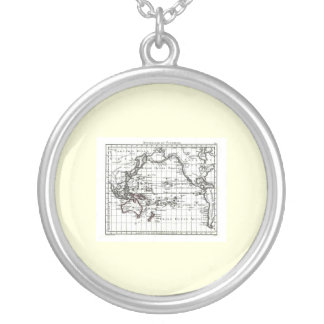 Vintage 1806 Map - Australasie et Polynesie Round Pendant Necklace