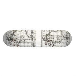 Vintage 1806 Map - Australasie et Polynesie Skateboard