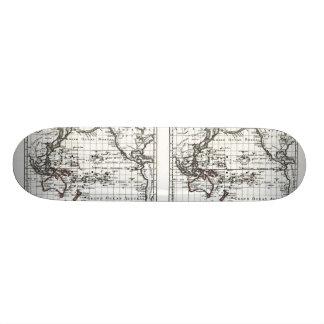 Vintage 1806 Map - Australasie et Polynesie Skate Board Deck