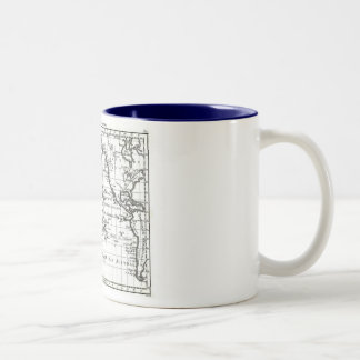 Vintage 1806 Map - Australasie et Polynesie Two-Tone Coffee Mug