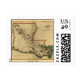 Vintage 1814 Louisiana Map Postage