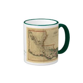 Vintage 1814 Louisiana Map Ringer Mug