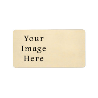 Vintage 1817 Cream Beige White Parchment Paper Label