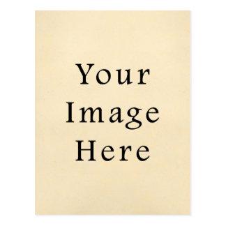 Vintage 1817 Cream Beige White Parchment Paper Postcard