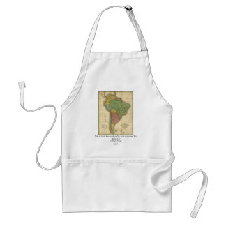 Vintage 1826 South America Map by Anthony Finley Adult Apron