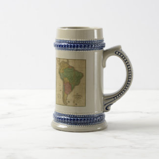 Vintage 1826 South America Map by Anthony Finley Beer Stein