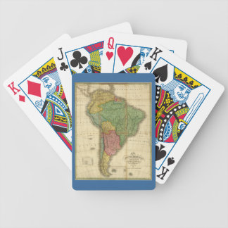 Vintage 1826 South America Map by Anthony Finley Bicycle Playing Cards