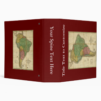 Vintage 1826 South America Map by Anthony Finley Binder