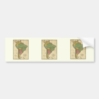 Vintage 1826 South America Map by Anthony Finley Bumper Sticker