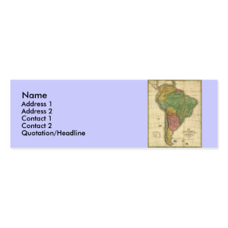 Vintage 1826 South America Map by Anthony Finley Double-Sided Mini Business Cards (Pack Of 20)