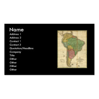 Vintage 1826 South America Map by Anthony Finley Double-Sided Standard Business Cards (Pack Of 100)