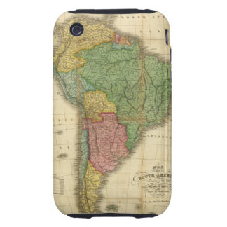 Vintage 1826 South America Map by Anthony Finley Tough iPhone 3 Case