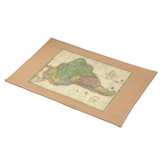 Vintage 1826 South America Map by Anthony Finley Cloth Placemat