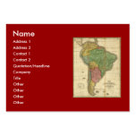 Vintage 1826 South America Map by Anthony Finley Large Business Card