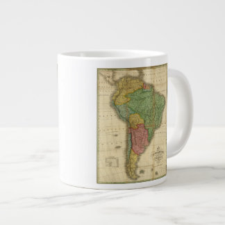 Vintage 1826 South America Map by Anthony Finley Large Coffee Mug