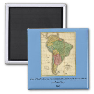 Vintage 1826 South America Map by Anthony Finley Refrigerator Magnets