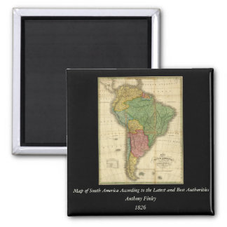 Vintage 1826 South America Map by Anthony Finley Magnets
