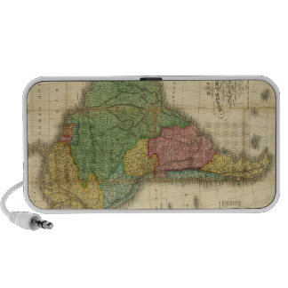 Vintage 1826 South America Map by Anthony Finley Portable Speaker
