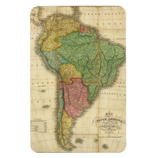 Vintage 1826 South America Map by Anthony Finley Flexible Magnet