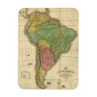 Vintage 1826 South America Map by Anthony Finley Rectangular Magnet