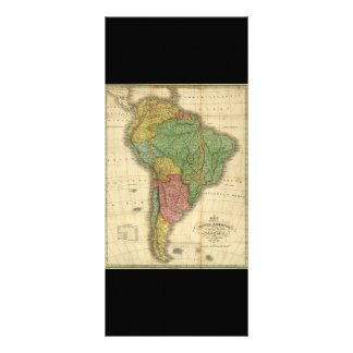 Vintage 1826 South America Map by Anthony Finley Rack Card