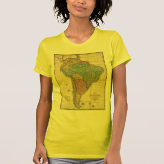Vintage 1826 South America Map by Anthony Finley T-Shirt