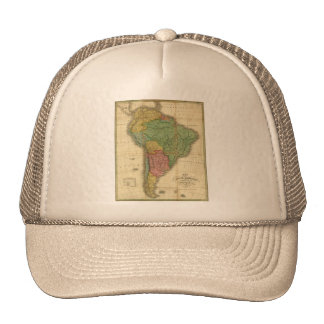 Vintage 1826 South America Map by Anthony Finley Trucker Hat